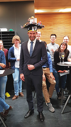 Bernhard passed his PhD exam, congratulations
