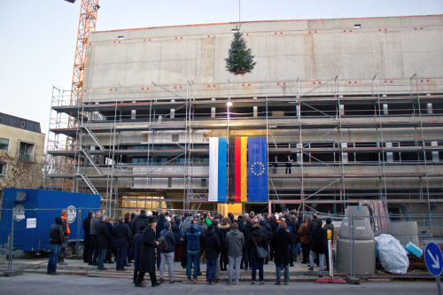Topping-out ceremony for the new research building Nano-Institute Munich