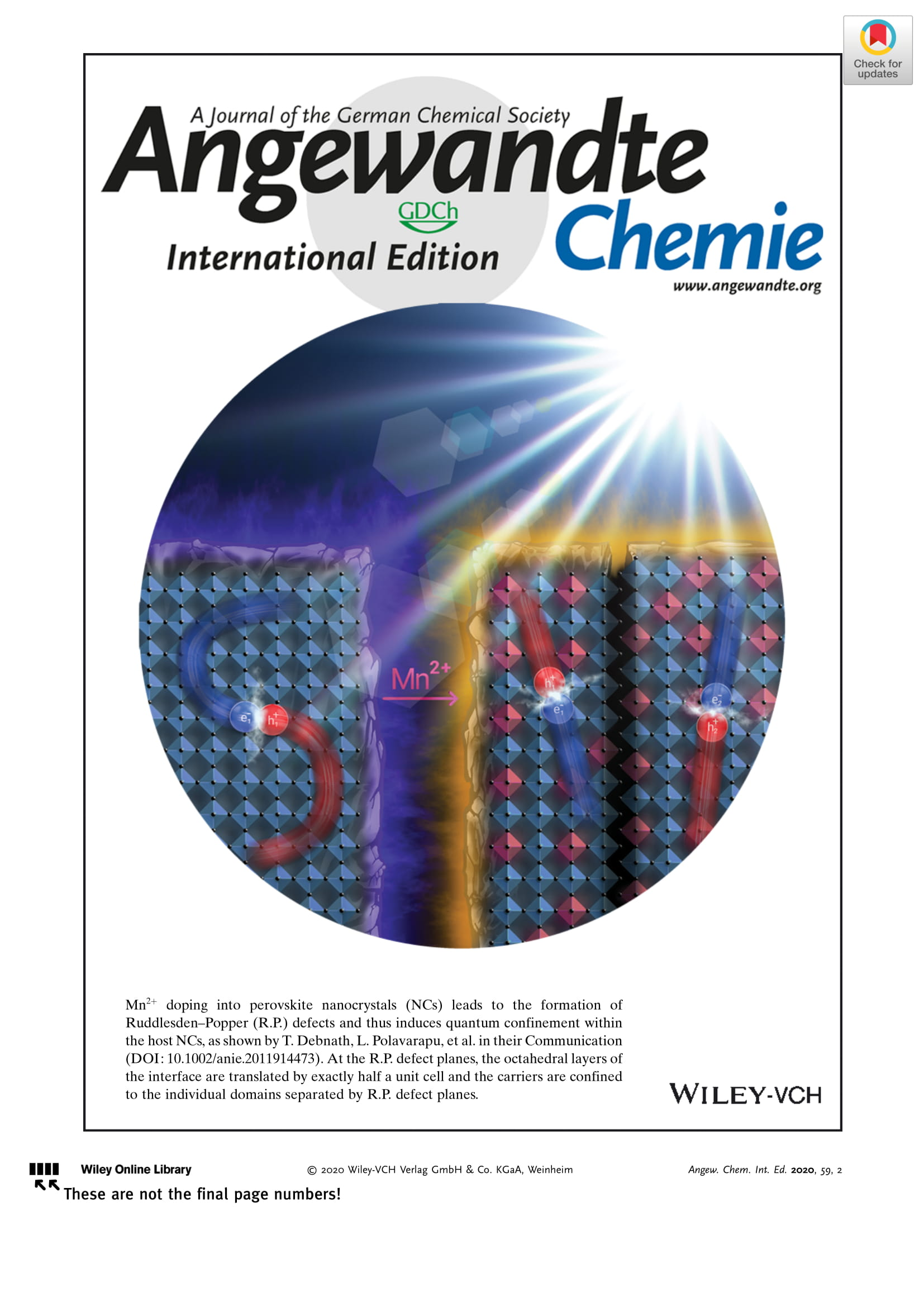 New cover image in Angewandte Chemie International Edition